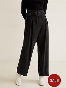 mango-buckle-detail-wide-leg-trousers-black
