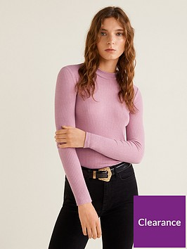 mango-ribbed-jersey-long-sleeve-top-pink