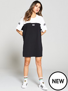adidas-originals-tee-dress-blackwhitenbsp