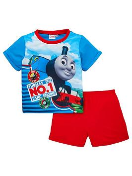 thomas-friends-boys-shorty-pyjama-set-bluered
