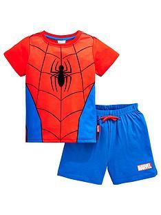 spiderman-boys-shorty-pjsnbsp--redblue