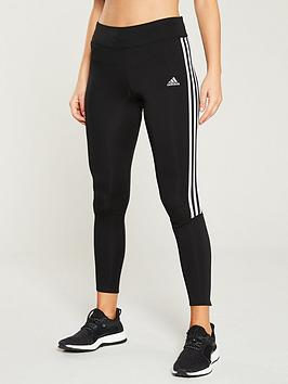 Adidas Adidas Run 3 Stripe Tight - Black Picture