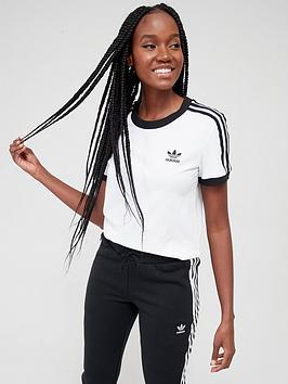 adidas Originals Adidas Originals 3 Stripe Tee - White Picture