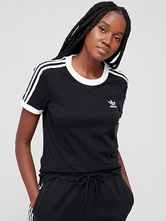 adidas-originals-3-stripe-tee-black