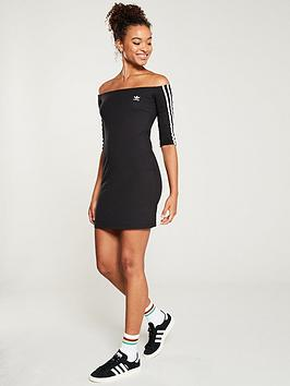 adidas Originals  Adidas Originals Shoulder Dress - Black