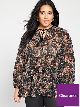 v-by-very-curve-tassel-blouse-paisley-print