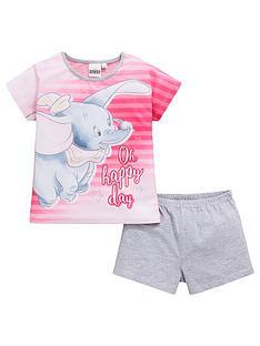disney-dumbo-girls-shorty-pyjamas-white