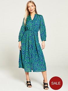 whistles-valeria-henna-print-shirt-dress-green-multi