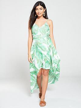 v-by-very-wrap-dipped-maxi-dress-leaf-print