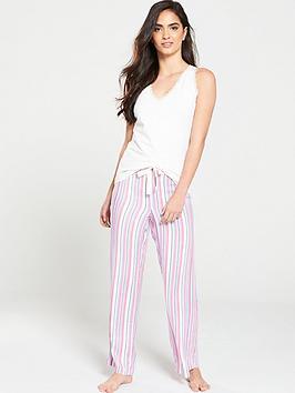 v-by-very-woven-pant-and-vest-pj-set-stripe