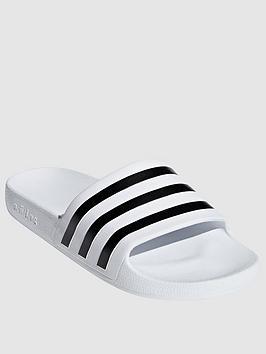 Adidas Adidas Adilette Aqua - White/Black Picture