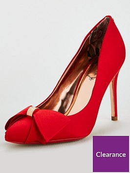 ted-baker-asellys-bow-court-shoes-red