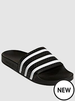 adidas-originals-adilettenbsp--blackwhitenbsp