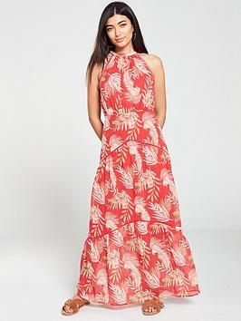v-by-very-maxi-dress-palm-print