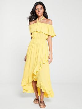 v-by-very-bardot-halter-crinkle-rayon-maxi-dress-yellow