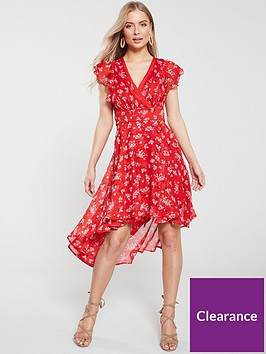 v-by-very-wrap-dip-back-woven-tea-dress-red-print
