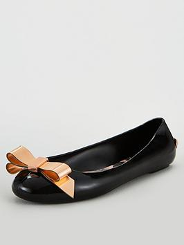 ted-baker-dahlia-ballerina-flats-black