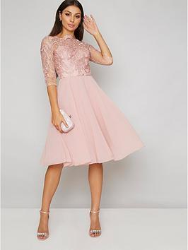 chi-chi-london-genesis-lace-top-dress-rose-gold