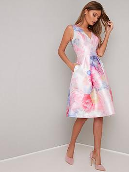 chi-chi-london-ohanna-v-neck-2-in-1-dress-pink
