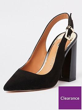 river-island-river-island-sling-back-court-shoe-black