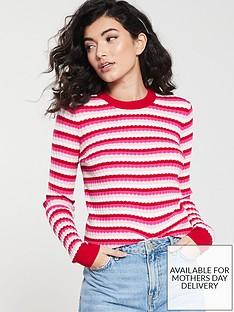 warehouse-stripe-stitch-jumper