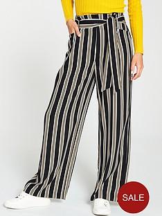 warehouse-paperbagnbspstripe-trouser-black-white