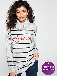river-island-river-island-roll-neck-amour-stripe-jumper