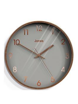 Jones Clocks Jones Clocks Fame Copper Wall Clock Picture