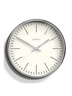 jones-clocks-studio-chrome-wall-clock