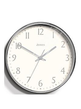 Jones Clocks Jones Clocks Penny Chrome Wall Clock Picture