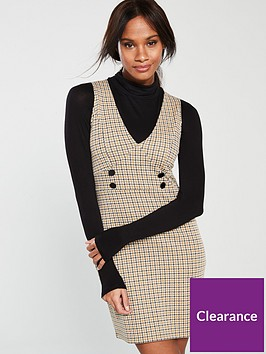 v-by-very-check-pinafore-multi