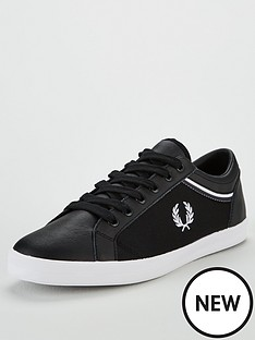 fred-perry-fred-perry-baseline-tipped-collar-mesh-plimsoll