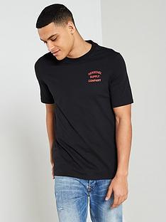 herschel-stack-logo-t-shirt-black
