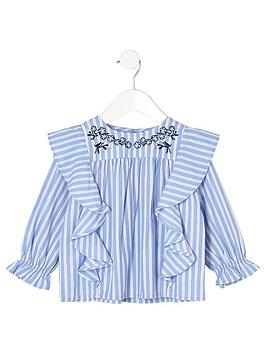 river-island-mini-mini-girls-blue-stripe-swing-top