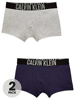 Calvin Klein Calvin Klein Boys 2 Pack Trunks - Grey/Blue Picture