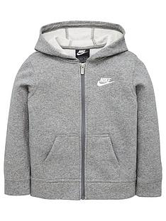 nike-younger-child-club-full-zip-hoodie-dark-grey
