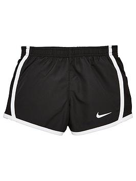 Nike Nike Girls Dry Tempo Shorts - Black/White Picture
