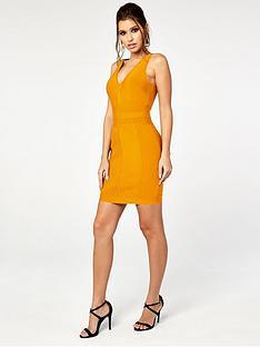 the-girl-code-chevron-mini-bandage-dress-orange