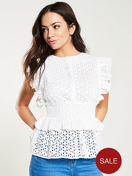v-by-very-broderie-ruffle-top-ivory