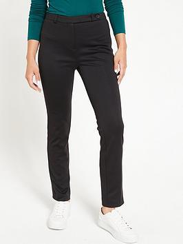 V by Very V By Very Petite Ponte Slim Leg Trousers - Black Picture