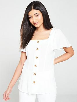 v-by-very-square-neck-button-through-top-ivorynbsp