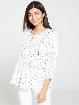 v-by-very-embroidered-ladder-detail-top-ivory