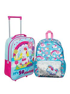 minions-fluffy-unicorn-16inch-backpack-trolley-bag-set