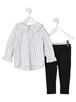 river-island-mini-mini-girls-white-stripe-top-outfit