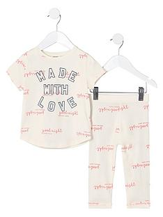 river-island-mini-mini-girls-cream-made-with-love-outfit