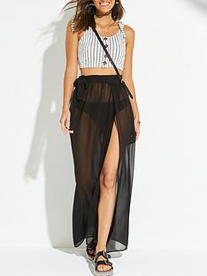 v-by-very-chiffon-tie-side-maxi-beach-skirt-black