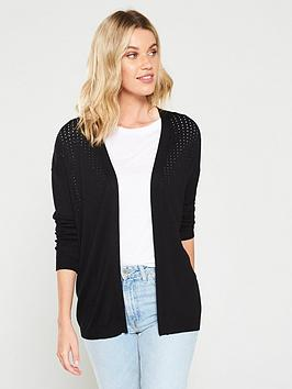 v-by-very-mesh-panel-edge-to-edge-cardigan-black