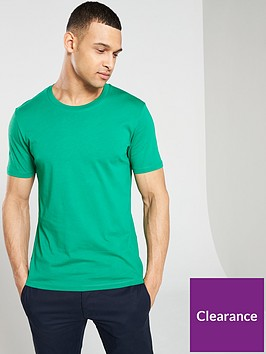 selected-homme-perfect-short-sleeved-open-neck-t-shirt-green