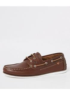 river-island-noatie-tumbled-leather-boat-shoe