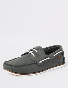 river-island-noatie-tumbled-leahter-boat-shoe